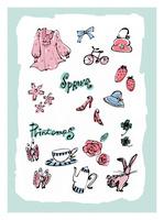春のモチーフとイメージ 10416000053| 写真素材・ストックフォト・画像・イラスト素材|アマナイメージズ