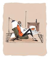 部屋の中で読書する女性 10416000057| 写真素材・ストックフォト・画像・イラスト素材|アマナイメージズ