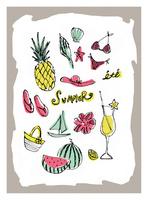 夏のモチーフとイメージ 10416000061| 写真素材・ストックフォト・画像・イラスト素材|アマナイメージズ