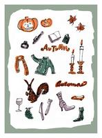 秋のモチーフとイメージ 10416000062| 写真素材・ストックフォト・画像・イラスト素材|アマナイメージズ