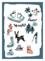 冬のモチーフとイメージ 10416000063  写真素材・ストックフォト・画像・イラスト素材 アマナイメージズ