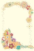 子馬と花と光の輪(タテ)