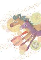 馬の親子 10418000022| 写真素材・ストックフォト・画像・イラスト素材|アマナイメージズ