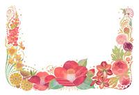1月をイメージした花の飾り