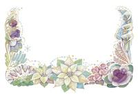 12月をイメージした花の飾り