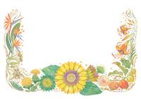8月をイメージした花の飾り