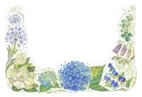 6月をイメージした花の飾り