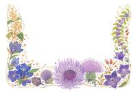 10月をイメージした花の飾り