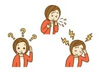 物忘れと頭痛と咳 10420000003| 写真素材・ストックフォト・画像・イラスト素材|アマナイメージズ