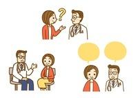受診と問診と医師とのやりとり 10420000005| 写真素材・ストックフォト・画像・イラスト素材|アマナイメージズ