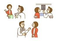 問診とレントゲンと医師とのやり取り 10420000006| 写真素材・ストックフォト・画像・イラスト素材|アマナイメージズ