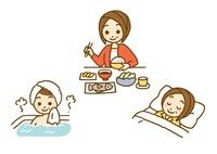 食事と睡眠と入浴 10420000008| 写真素材・ストックフォト・画像・イラスト素材|アマナイメージズ