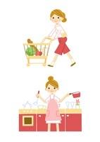 食品の買い出し 料理