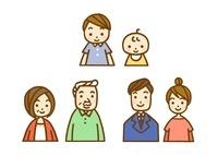 家族・孫と父母と祖父母
