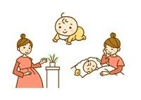 妊婦さん・赤ちゃん・寝かしつけ 10420000023| 写真素材・ストックフォト・画像・イラスト素材|アマナイメージズ