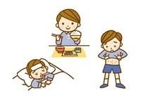 子供・食事風景と発熱と発疹