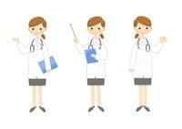 説明する女医さん 全身 10420000033| 写真素材・ストックフォト・画像・イラスト素材|アマナイメージズ