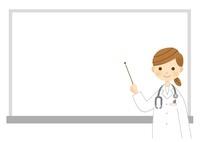 ホワイトボードで説明する女医さん 10420000034| 写真素材・ストックフォト・画像・イラスト素材|アマナイメージズ