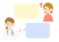 患者さんと女医さん・問診 10420000045| 写真素材・ストックフォト・画像・イラスト素材|アマナイメージズ