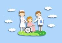 車いすの患者さんと女医さん 10420000046| 写真素材・ストックフォト・画像・イラスト素材|アマナイメージズ