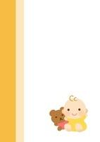小児科・産婦人科・テディベアと赤ちゃん