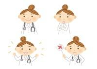 いろいろな表情の女医さん
