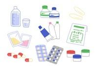 カプセル・粉薬・塗り薬・液体飲み薬など色々な種類の薬 10420000053| 写真素材・ストックフォト・画像・イラスト素材|アマナイメージズ