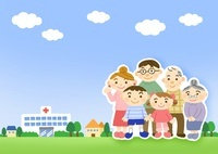 病院と家族 10420000054| 写真素材・ストックフォト・画像・イラスト素材|アマナイメージズ