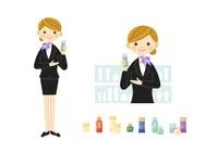 美容部員・化粧品販売の女性 10420000079| 写真素材・ストックフォト・画像・イラスト素材|アマナイメージズ