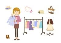 ブティック・ショップ店員の女性 10420000080| 写真素材・ストックフォト・画像・イラスト素材|アマナイメージズ