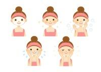 スキンケア 女性の顔のアップ 10420000082| 写真素材・ストックフォト・画像・イラスト素材|アマナイメージズ
