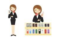 携帯電話ショップの販売員 10420000083| 写真素材・ストックフォト・画像・イラスト素材|アマナイメージズ