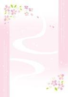 年賀状 花のイラスト