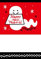 巳年 年賀状 10420000094| 写真素材・ストックフォト・画像・イラスト素材|アマナイメージズ
