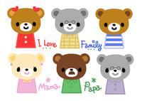 キャラクター・クマの家族 10420000106| 写真素材・ストックフォト・画像・イラスト素材|アマナイメージズ