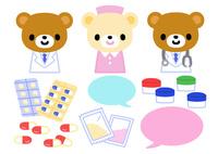 キャラクター・クマのお医者さん 10420000107| 写真素材・ストックフォト・画像・イラスト素材|アマナイメージズ