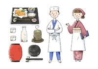 日本料理屋の店員