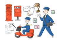 郵便配達員 10420000115| 写真素材・ストックフォト・画像・イラスト素材|アマナイメージズ