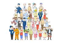 いろいろな職業 10420000129| 写真素材・ストックフォト・画像・イラスト素材|アマナイメージズ