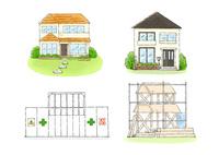 住宅 10420000130| 写真素材・ストックフォト・画像・イラスト素材|アマナイメージズ