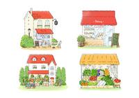 カフェ、ベーカリー、花屋、八百屋