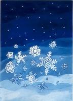 満天の星と雪の結晶