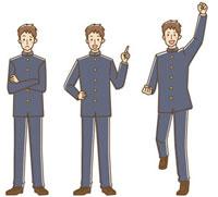男子学生3パターン