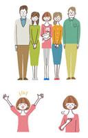 女性と家族 10423000057| 写真素材・ストックフォト・画像・イラスト素材|アマナイメージズ