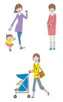 妊婦と親子
