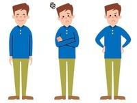 お父さん  表情3パターン
