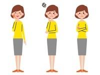 お母さん 表情3パターン