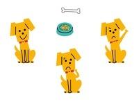 犬  表情3パターン 10423000234| 写真素材・ストックフォト・画像・イラスト素材|アマナイメージズ