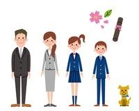 正装の家族 10423000253| 写真素材・ストックフォト・画像・イラスト素材|アマナイメージズ