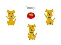 犬 表情3パターン 10423000254| 写真素材・ストックフォト・画像・イラスト素材|アマナイメージズ